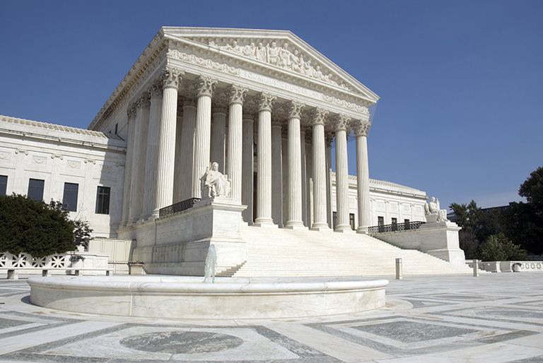 The front steps of the United States Supreme Court