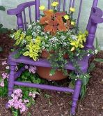 chair flower pot
