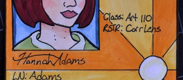 Hannah Adams' Colored Marker ID Cards