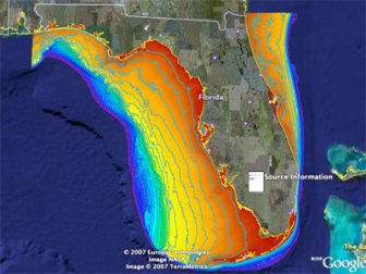 continental shelf around florida