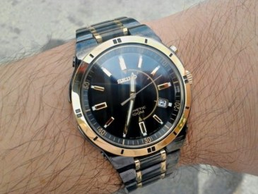 Seiko Men's SKA366 Stainless Steel Two-Tone Kinetic Dress Watch review