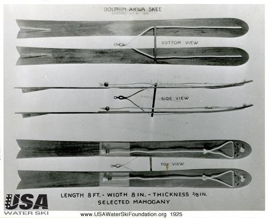 1926 ad fred waller akwa skis water skiing history