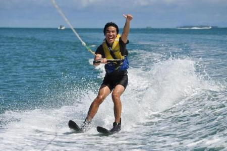 what is waterskiing
