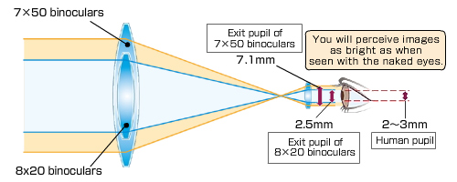 exit pupil optics