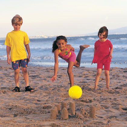 kids beach bowling