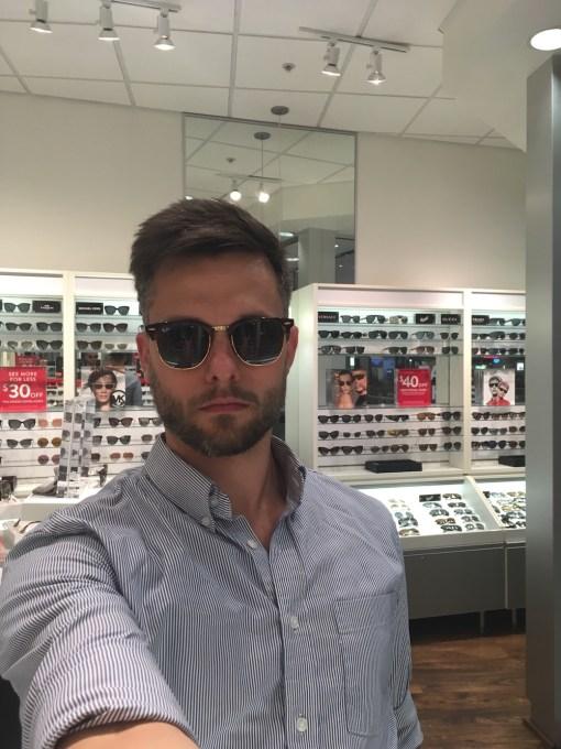 sunglasses on man