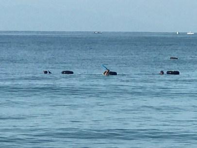 Bucerias oyster fishermen at sea in Banderas Bay Mexico