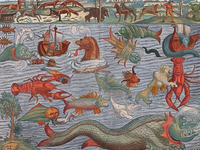 Carta Marina sea monsters