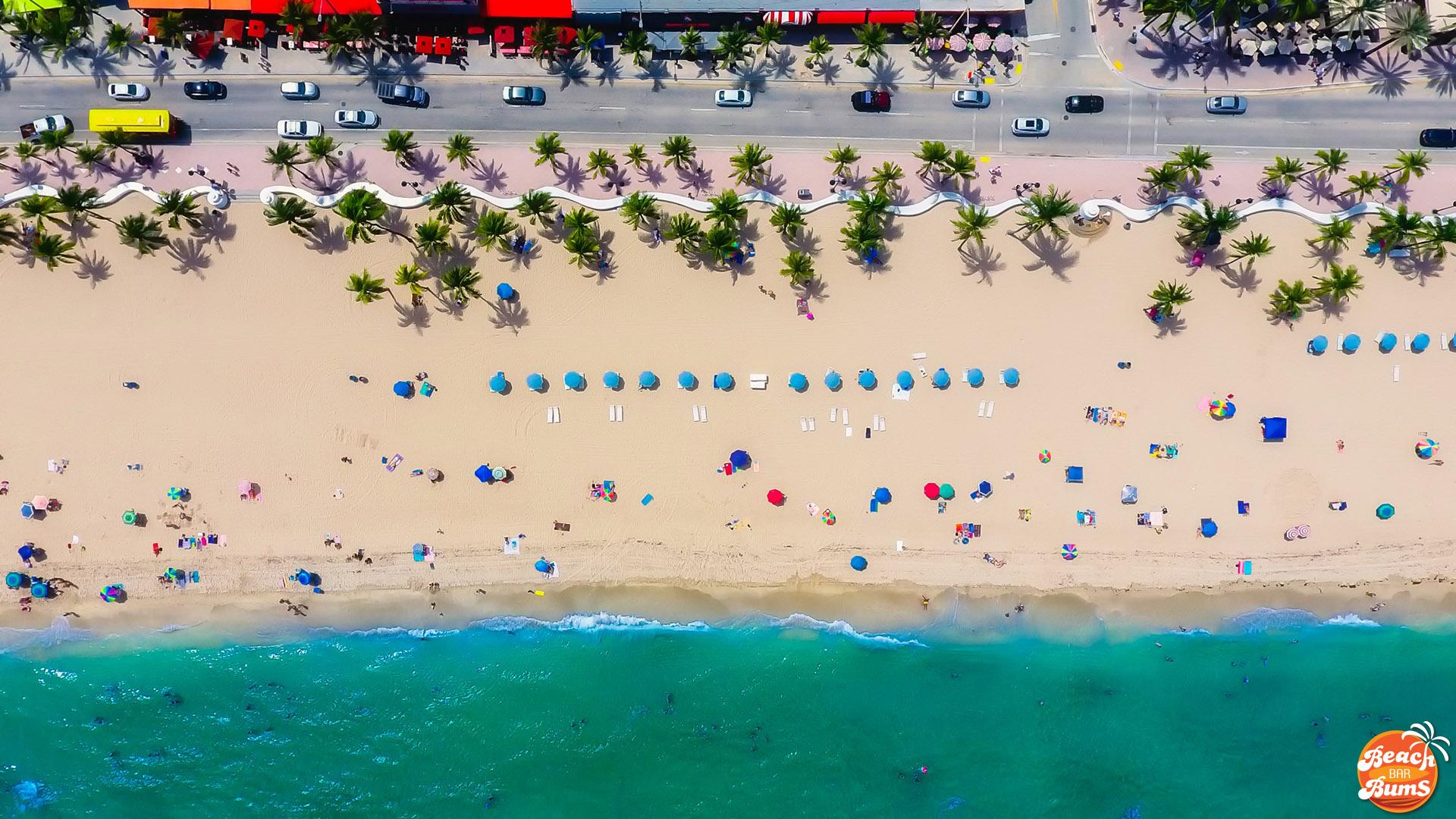 Beach Thursday Pic of the Week  A1A and Las Olas Ft Lauderdale Florida  Beach Bar Bums