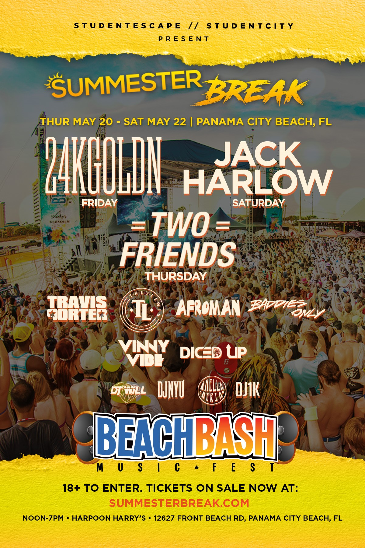 From may to september, eur. Beach Bash Music Fest Presents Summester Break Music Festival May 19 22 In Panama City Beach Florida Featuring Jack Harlow And 24kgoldn Beach Bash Music Fest