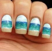 nail beach with art
