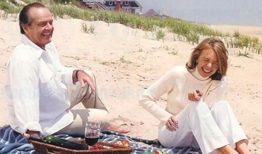 Somethings Gotta Give Beach Picnic Jack Nicholson and Diane Keaton
