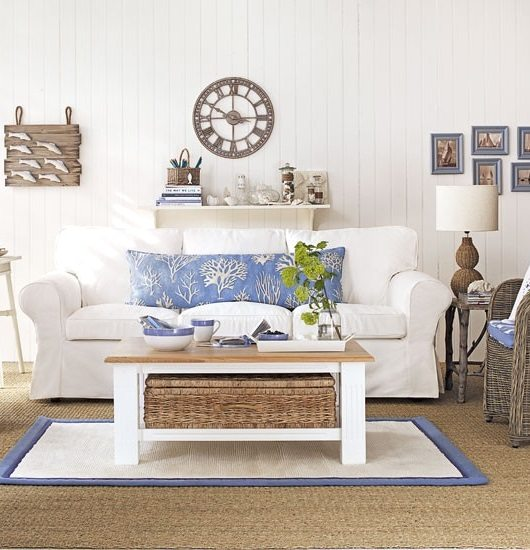 Blue Living Room Decorating Ideas: Soft Blue & White Decor Ideas To Turn Your Living Room