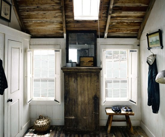 striped kitchen rug home designs beach shack living on a pier in provincetown, ma - ...
