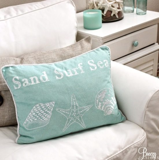 Sand Surf Sea Pillow