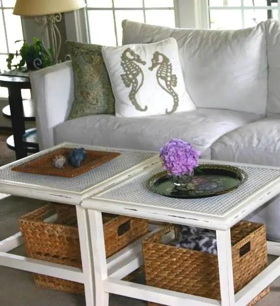 coastal wicker baskets decorative storage ideas. Black Bedroom Furniture Sets. Home Design Ideas