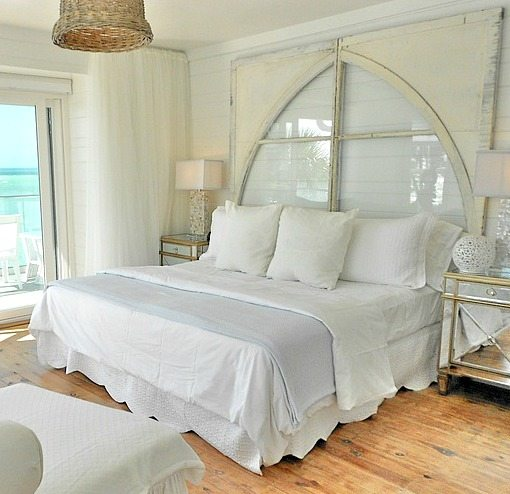 ikea bedroom chairs green chair covers weddings pure white decor in a remodeled vintage beach cottage on anna maria island - bliss living