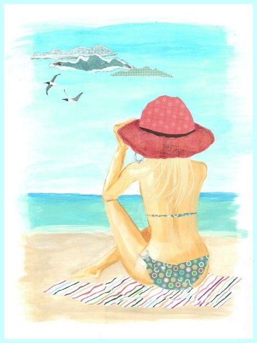 Paintings Beach Chair Sand