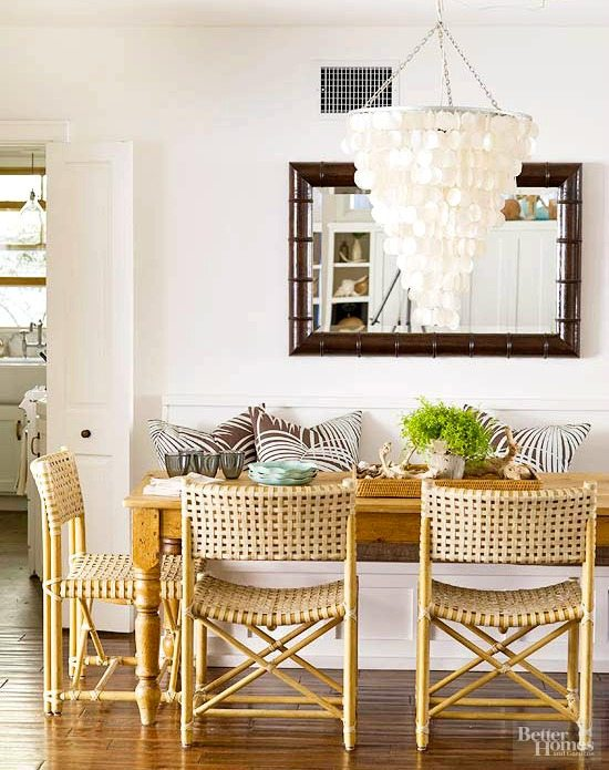 Paint color schemes inspired from beach colors beach for Dining room color scheme ideas