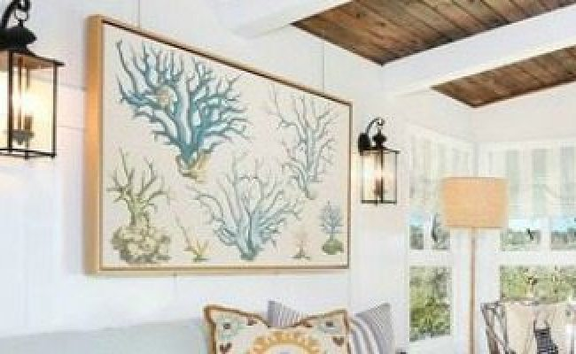 Using Beach Fabric As Wall Art Beach Bliss Living