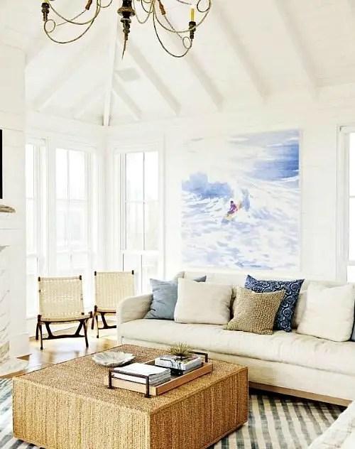 dune sofa metal outdoor set inspiring beach wall decor ideas for the space above ...
