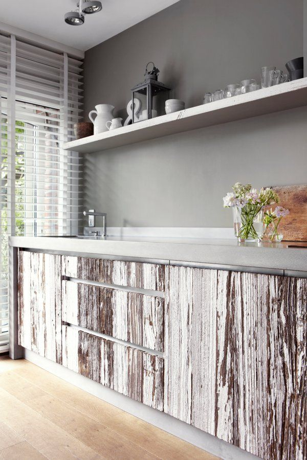 Create A True Beach Feel To Your Kitchen And Home With Driftwood Cabinets Beach Bliss Living