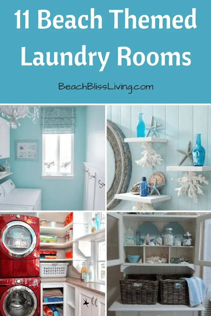 11 Beach Themed Laundry Rooms Beach Bliss Living