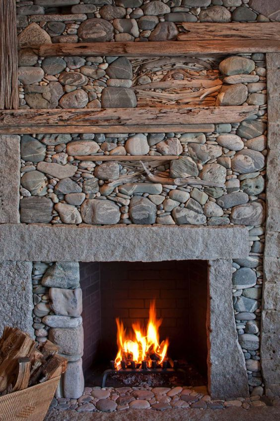 Awesome Fireplaces within Beach Houses and Cottages