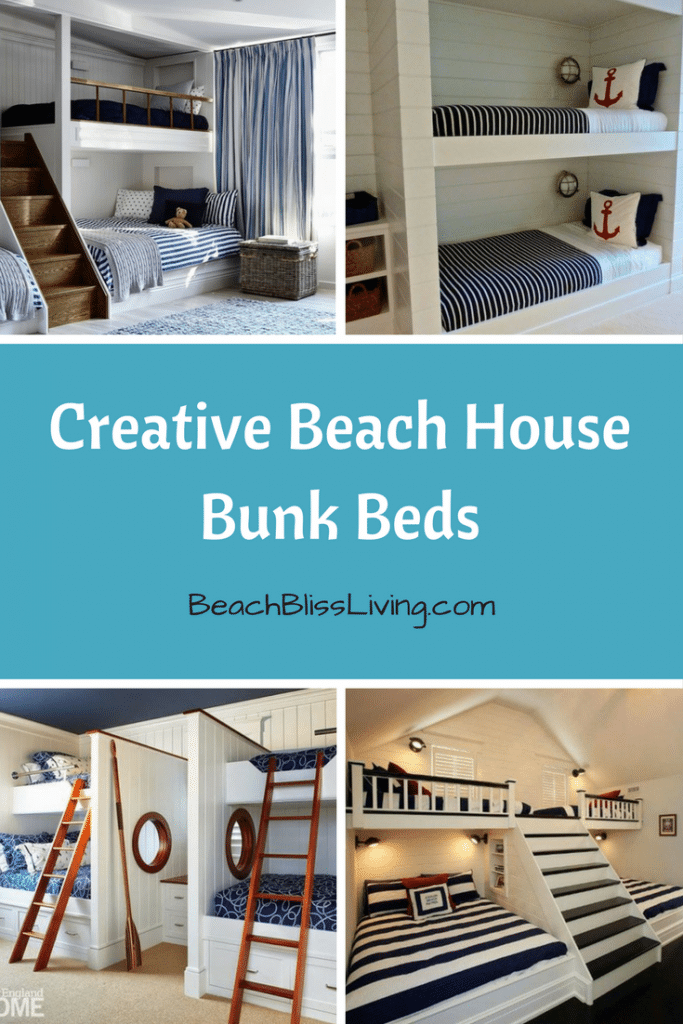 best wall decor for small living room color schemes black leather couch 2 spruce up a bedroom with these creative beach bunk beds ...