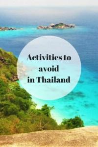 avoid thailand activities