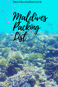 Pinterest Graphic for Maldives Packing List pin for later