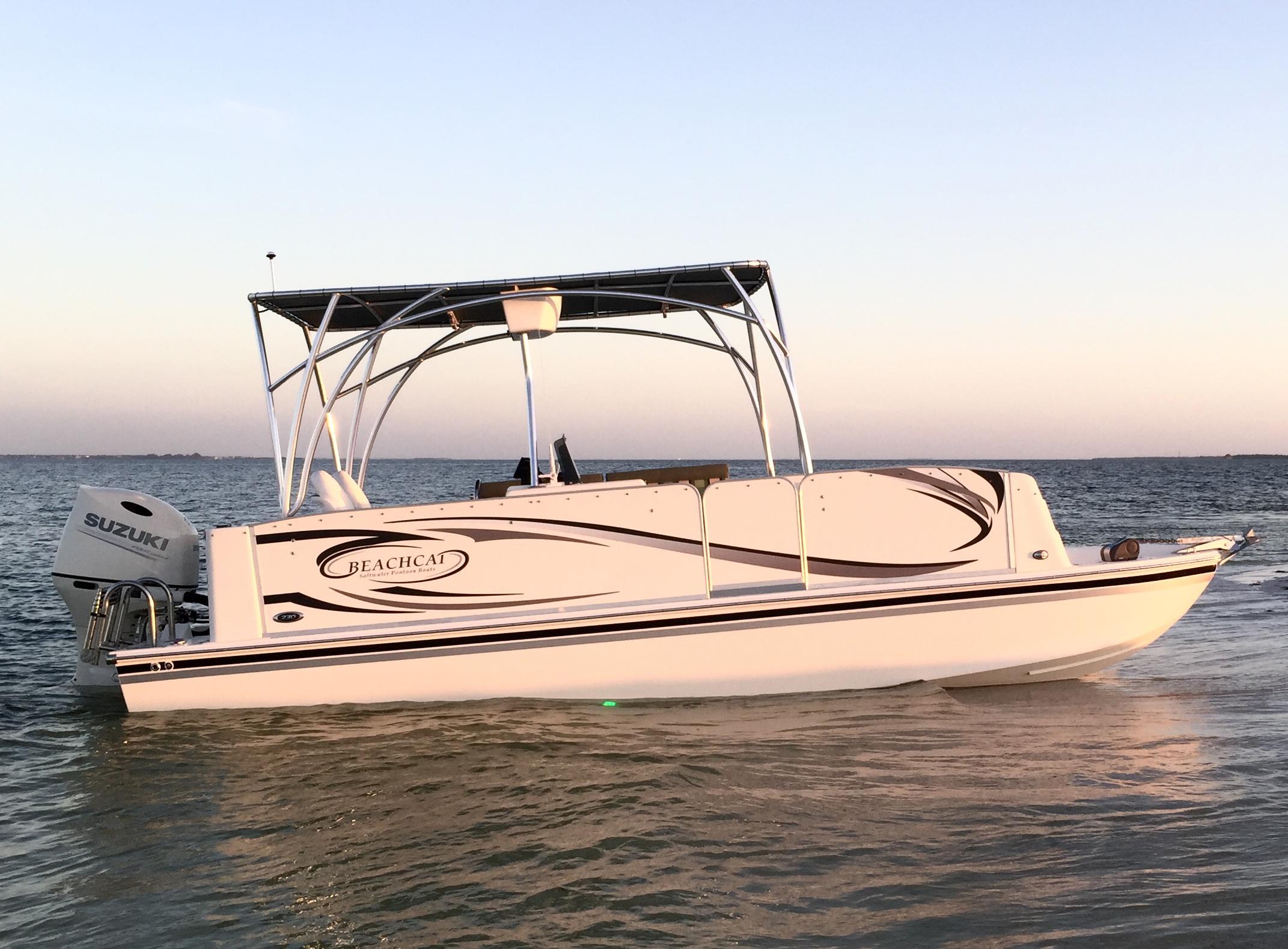 Fiberglass Series Beachcat Saltwater Pontoon Boats