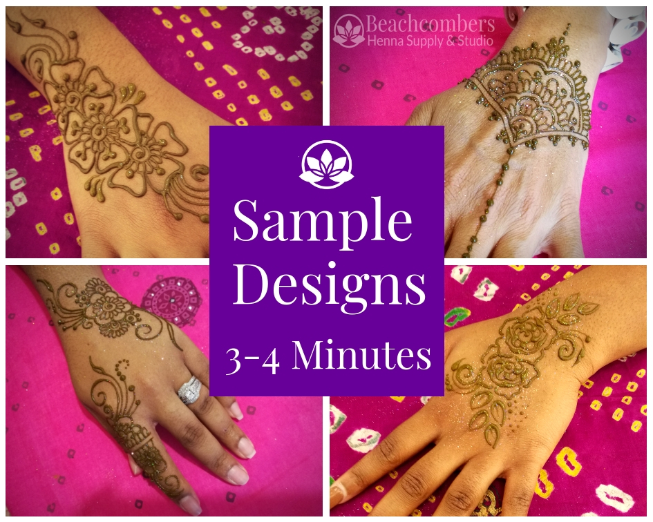 3-4 Minute Party Henna Designs