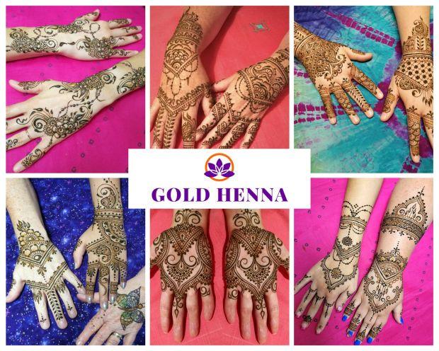 Get a Henna Tattoo in Orlando- gold