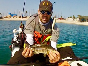 Mission Bay Spotted Bay Bass GoPro still 4-15-18