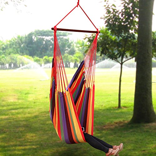 hammock chair swings outdoor sling chairs songmics large swing hanging seat beachfront decor next