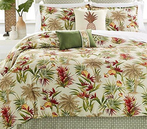 Hawaiian Tropical Comforter Set (8 Piece Bed In A Bag
