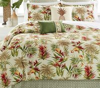 Hawaiian Tropical Comforter Set (8 Piece Bed In A Bag)