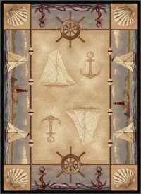 Beautiful Nautical Rugs | Nautical Area Rugs - Beachfront ...