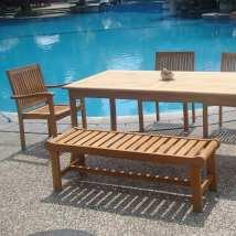 teak patio furniture - beachfront
