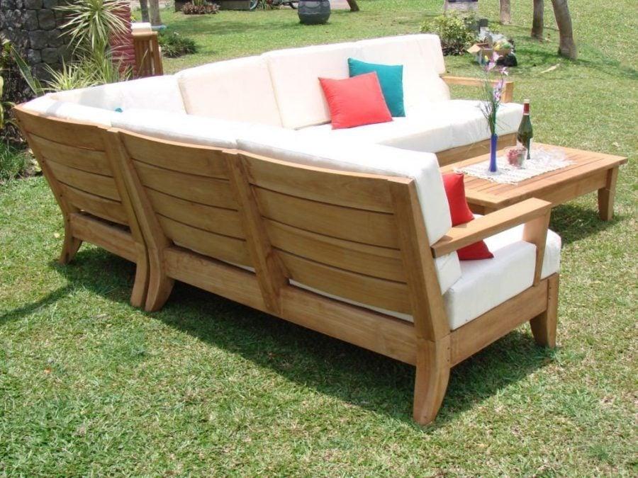 sunbrella fabric sectional sofas victorian designs atnas grade-a teak outdoor sofa set