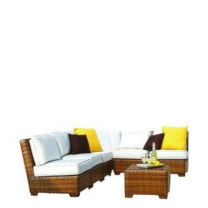panama jack outdoor 7 piece sectional sofa