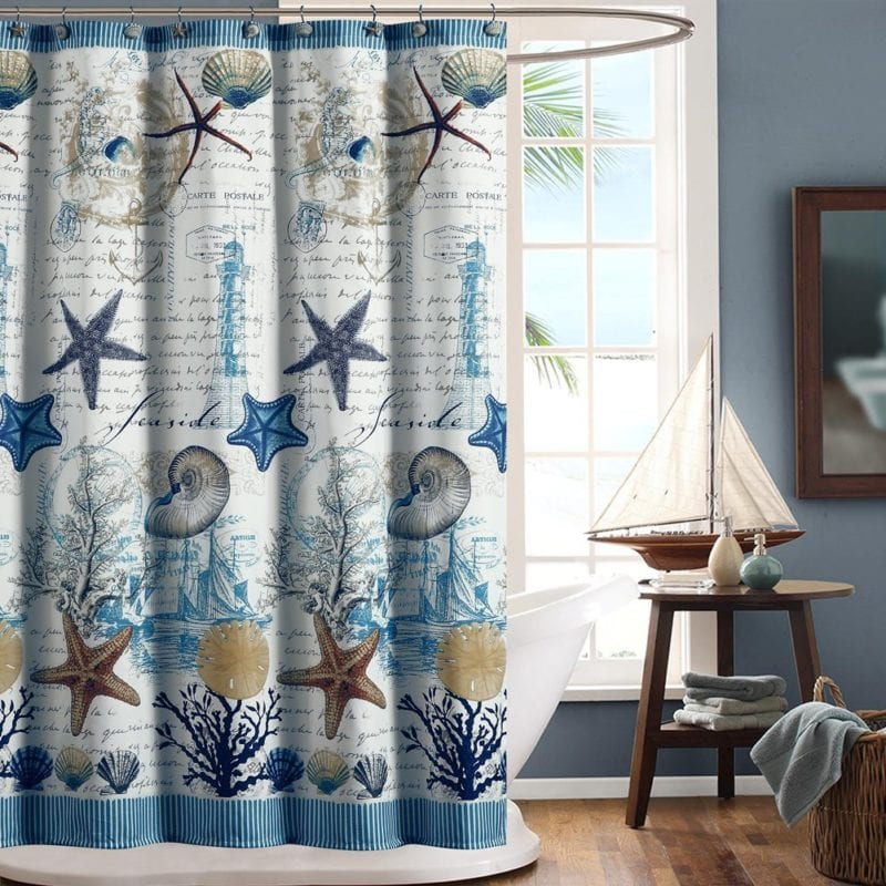 Nautical And Beach Themed Shower Curtains Beachfront Decor