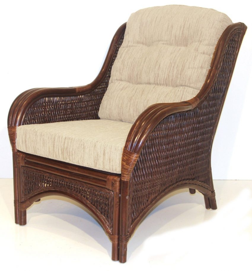 comfortable wicker chairs salon styling wholesale rattan cushioned chair