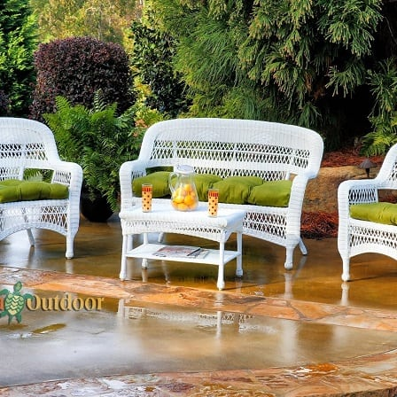 white wicker chairs and table red leather wing chair recliner best furniture beachfront decor tortuga outdoor patio set