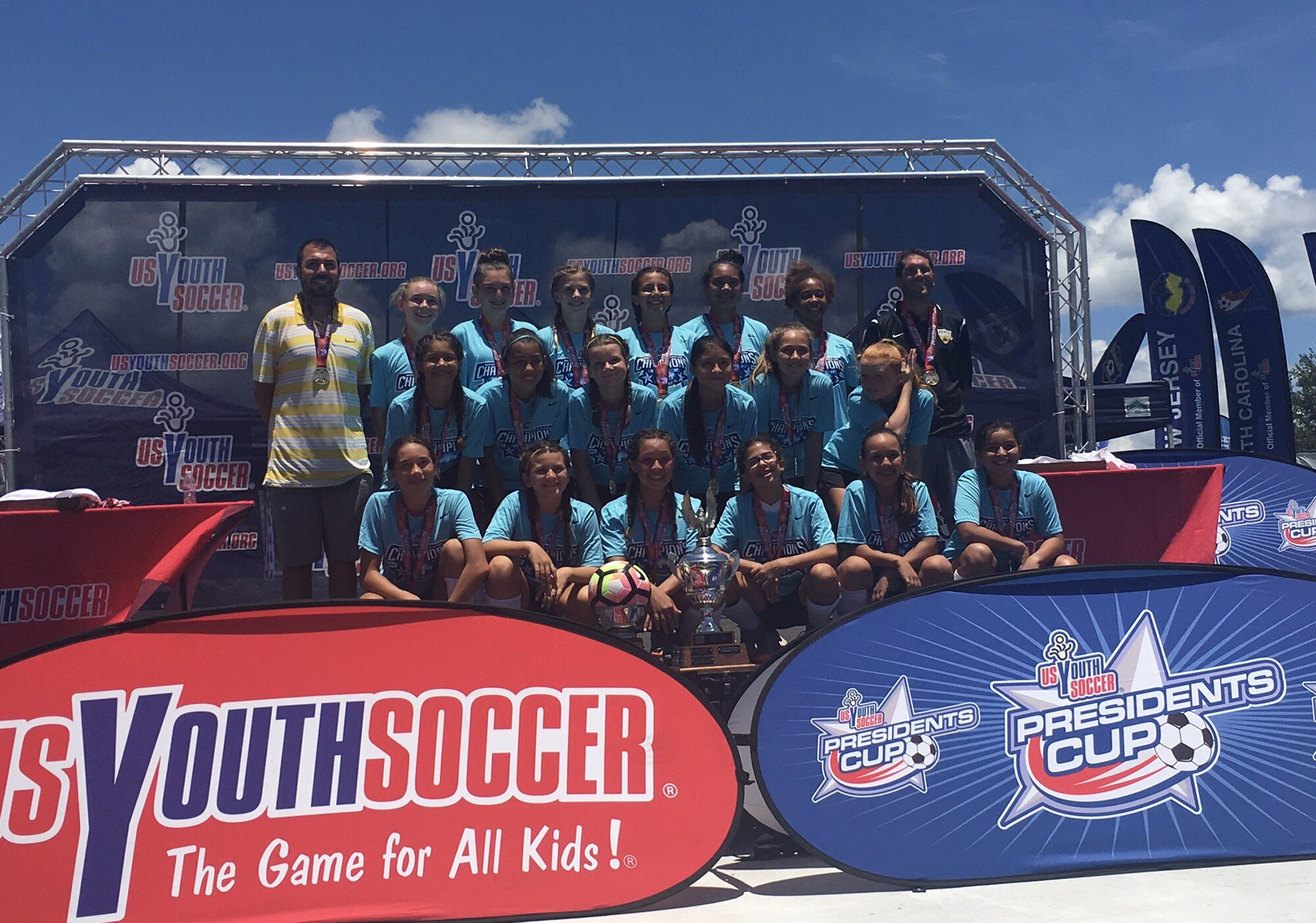 Beach FC club soccer Girls 2004 Nunes Presidents Cup National Champions