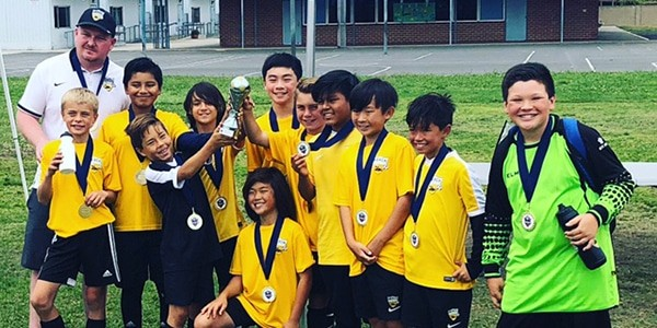 team picture of Beach FC SB B07 Kieron Brimacombe boys club soccer OC Super LIga Champions