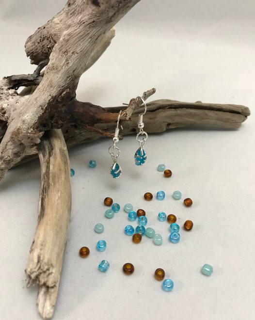 Deep Turquoise Earrings - Sold!