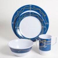 Galleyware Decorated Melamine Dinnerware Gift Set - Anchorline