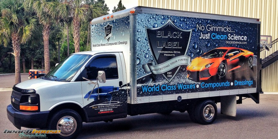 Black Label Wax : Box Truck Wrap